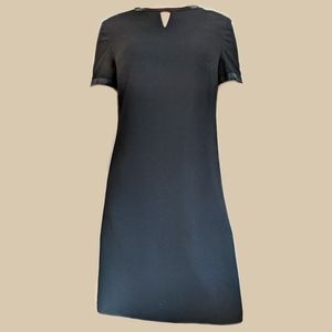 Virgo Black Midi Keyhole Dress